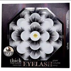7 pairs natural false eyelashes